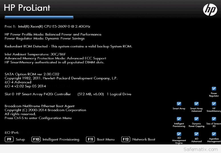 HP Proliant PXE boot multible NICs